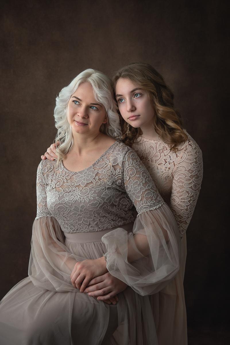 fine art, sesja mama córka, fotografia rodzinna